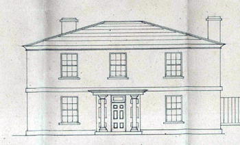 Elevation of the Vicarage in 1828 [BW885]
